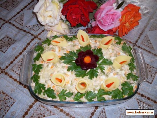 """Рецепт Салат """"Каллы"""""""