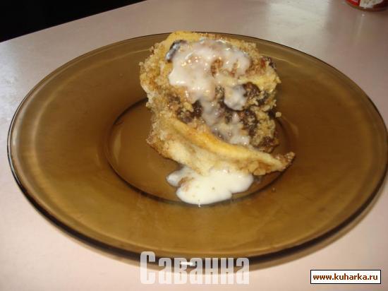 Рецепт Булочки с корицей, орехами и изюмом. (Cinnamon Rolls)
