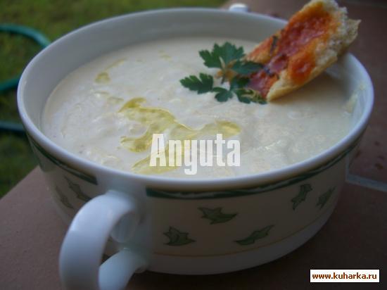 Рецепт Ахобланко с жареными яйцами(Ajoblanco con huevos fritos)