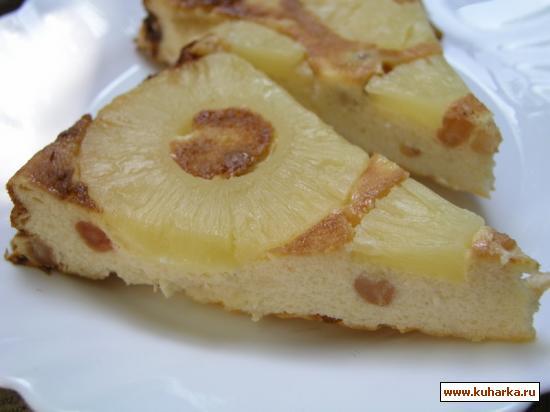 Рецепт Творожная запеканка с ананасом