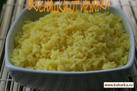 Рецепт Рис басмати в кокосовом молоке с лимонным сорго и шафраном