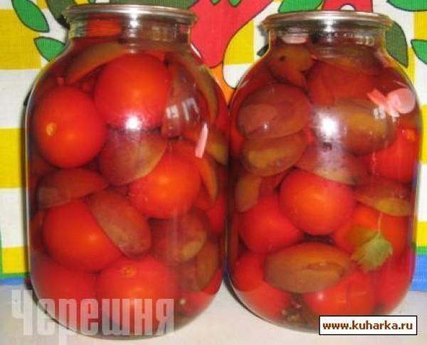 из помидор и сливы Заготовки