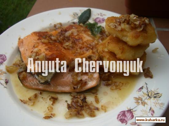 Рецепт Рыба с картофельными котлетками и эмульсией