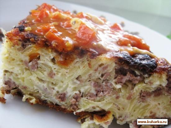 Рецепт Картофельный омлет с соусом