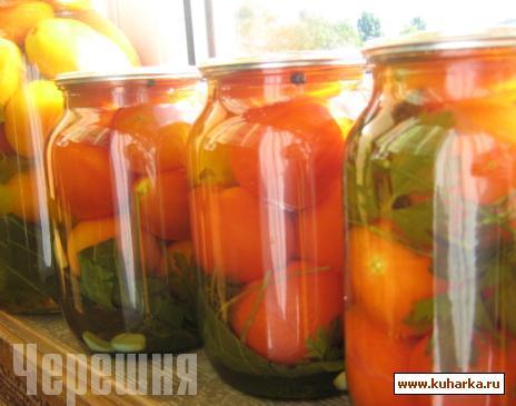 Рецепт Помидоры в яблочном соке