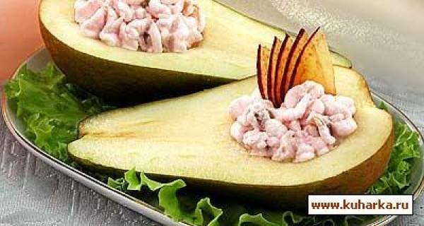 Фаршированные груши курицей рецепты с фото