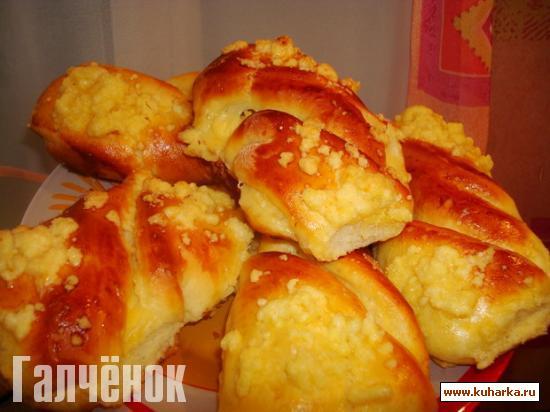 Рецепт Булочки с ванильным пудингом