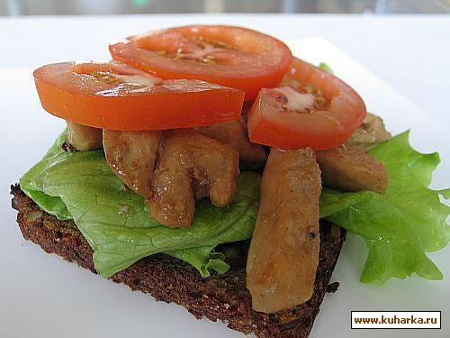 Рецепт Сэндвич с куриной грудкой