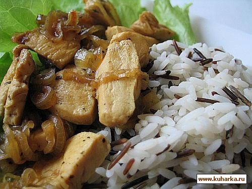 Рецепт Филе цыпленка по-тайски с рисом