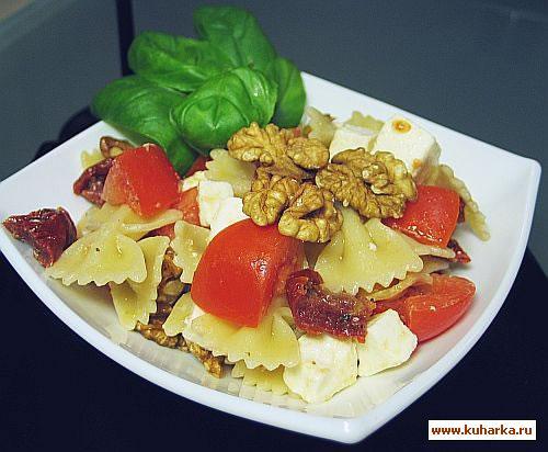 Рецепт Салат из пасты с сушенными помидорами
