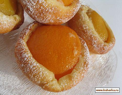 Рецепт Пирожные с персиками