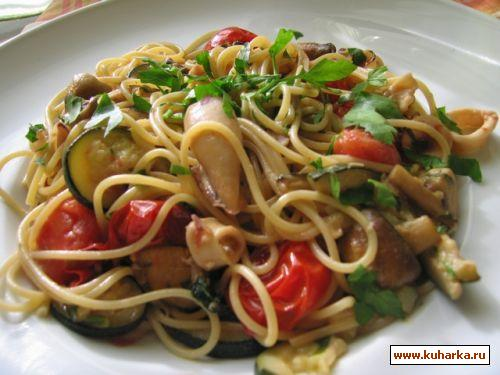 Рецепт Спагетти с кальмарами
