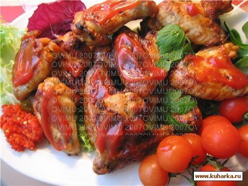 Рецепт Запеченные куринные крылышки
