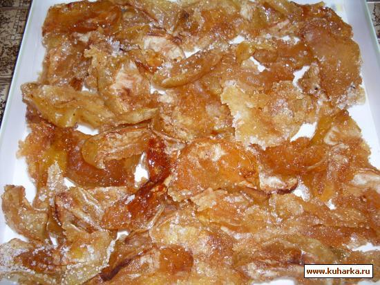Рецепт Сухое варенье из яблок