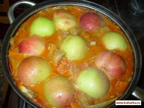 Рецепт Баклажаны с яблоками