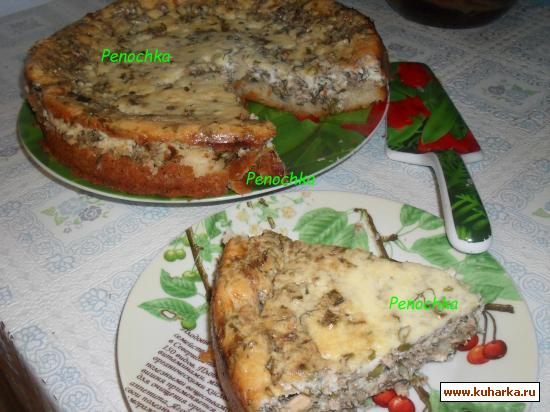 Рецепт Сметанный пирог с рыбой