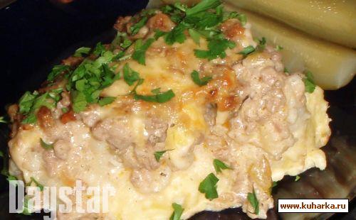 Рецепт Запеканка из цветной капусты с молотым мясом