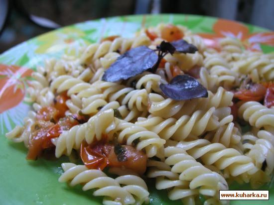 Рецепт Фузилли с травами и помидорами