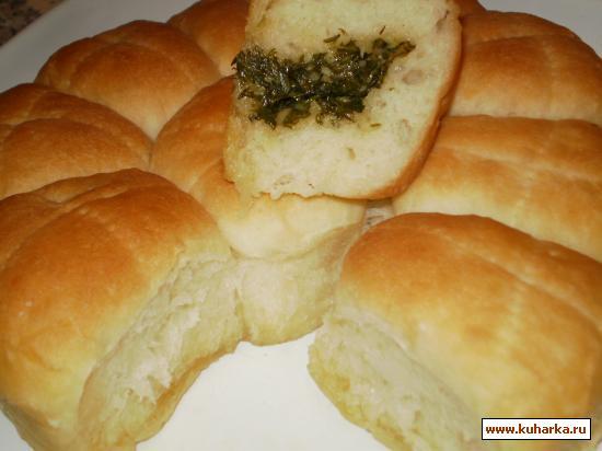 Рецепт Укропно-чесночные булочки к борщу