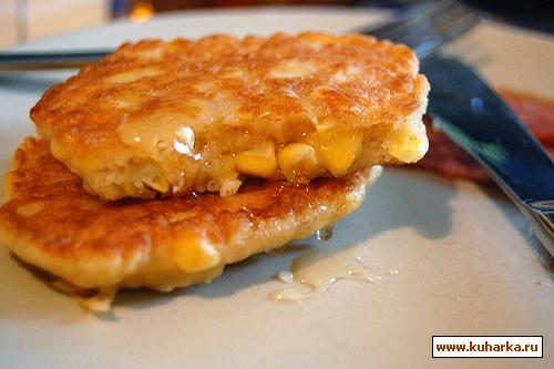 Рецепт Оладушки из кукурузы