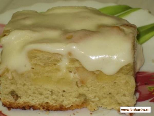 яблочный пирог со сметанным кремом рецепт
