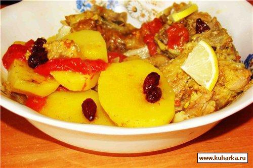 Рецепт Баранина с сушеным кизилом и овощами