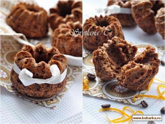 Рецепт Овсяные маффины с шоколадом и апельсином