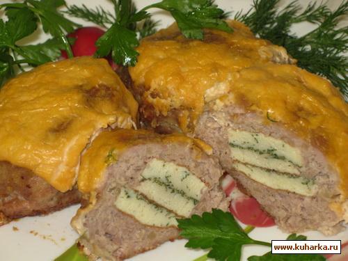 Рецепт Мясные зразы с омлетом