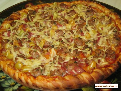 пицца с мясом рецепт с фото
