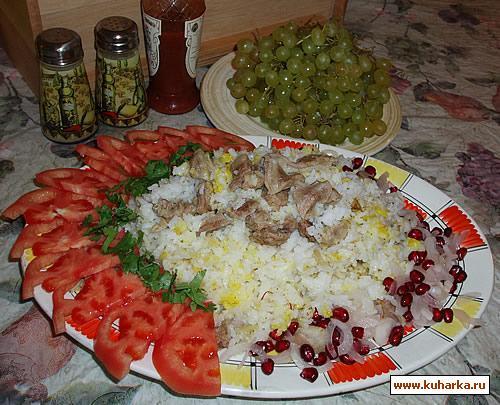 Рецепт Плов откидной с бараниной