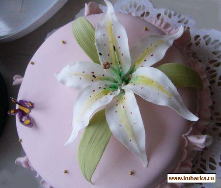 Рецепт Лилия из мастики