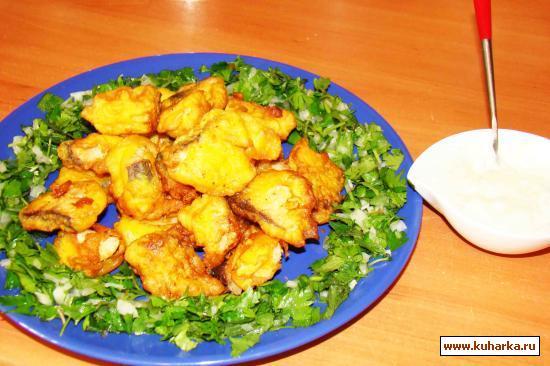 Рецепт Рыба в кляре с огуречно-майонезным соусом