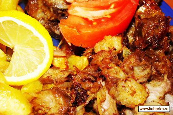 Рецепт Баранина жареная с картошкой