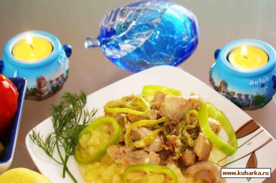 Рецепт Яйца бараньи с перцем и чесночными пряностями