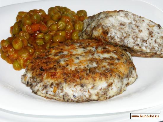 Рецепт Курино-грибные котлеты