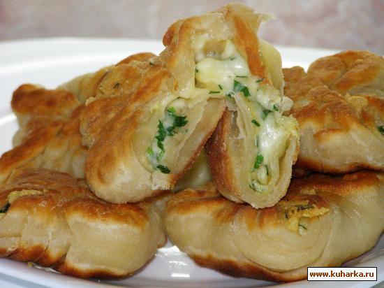 Рецепт Кефирные конвертики с сыром.
