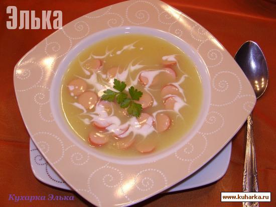 Рецепт Картофельный кремовый суп с сосисками