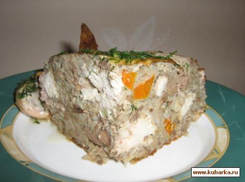 Рецепт Курица, фаршированная гречкой и печенью