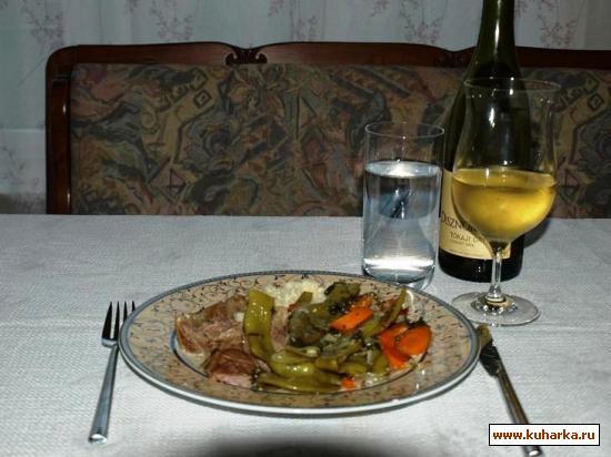 Рецепт Рагу из баранины с фасолью и морковью