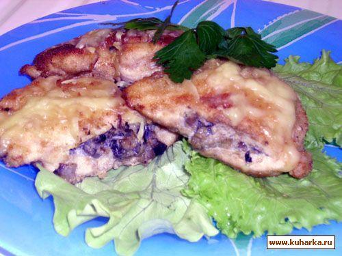 Рецепт Куриные грудки фаршированные грибами
