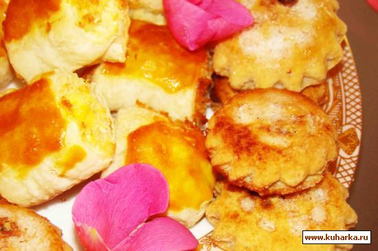 Слоеное печенье начинкой рецепт фото