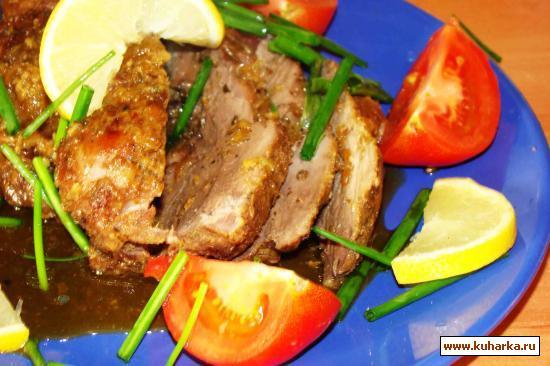 Рецепт Мясо кабана запеченое в духовке