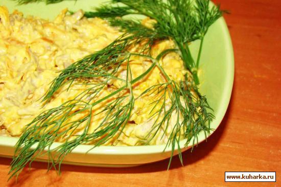 Рецепт Салат с мясом и морковью
