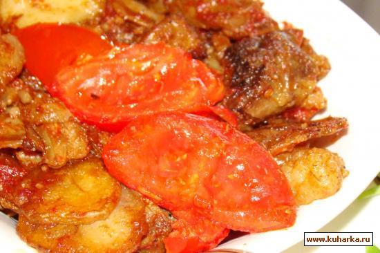 Рецепт Жаркое под томатным соусом в духовке