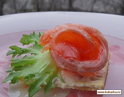 Рецепт Солёная красная рыба с соевым соусом