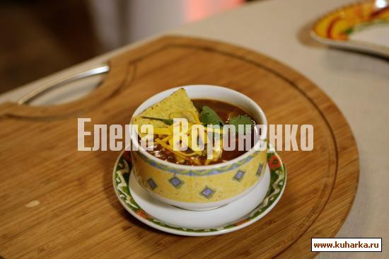 Рецепт Мексиканский суп из черной фасоли и кукурузы