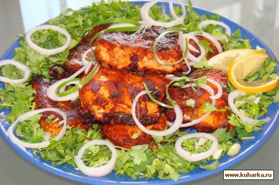 Рецепт Шашлык из рыбы(белый амур)