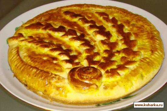 Рецепт Дрожжевой пирог с лимонной начинкой