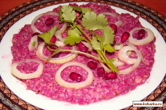 Рецепт Фисинджан из свеклы