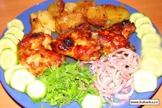 Рецепт Крылышки маринованные в соевом соусе и кетчупе